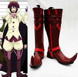 hot sale online 67975 77f4b Details about Blue Exorcist Ao no Mephisto Pheles Mefisto Cosplay Shoes  Schuhe Stiefel scarpa