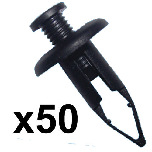 9mm foro vite larga adatta Paraurti Trim Clip Fissaggio x50