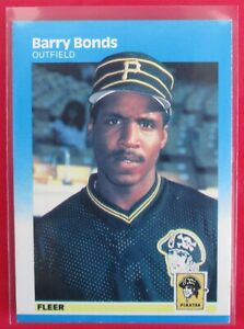 1987 Fleer Barry Bonds #604  Rookie Card RC