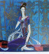 """Ting Shao Kuang  """"CALLING THE SOUL""""  HAND SIGNED Serigraph American/Chinese 丁绍光"""