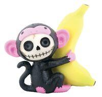 Furry Bones Black Munky Monkey Statue