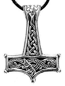 Martello-di-Thor-Ciondolo-in-argento-925-Cinturino-SERPENTE-MIDGARD-no-200