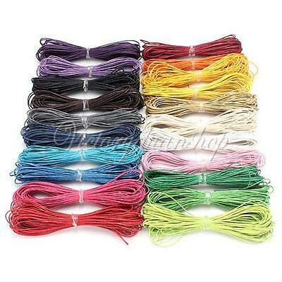 21 COLORS 1mm/1.5mm Waxed Cotton Cord / Wax Macrame Jewelry Beading String