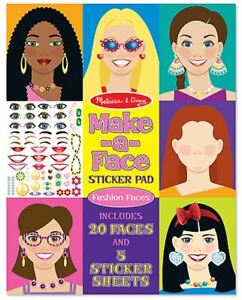 Melissa-amp-Doug-MAKE-A-FACE-STICKER-PAD-Creative-Toys-Activities-Games-BNIP
