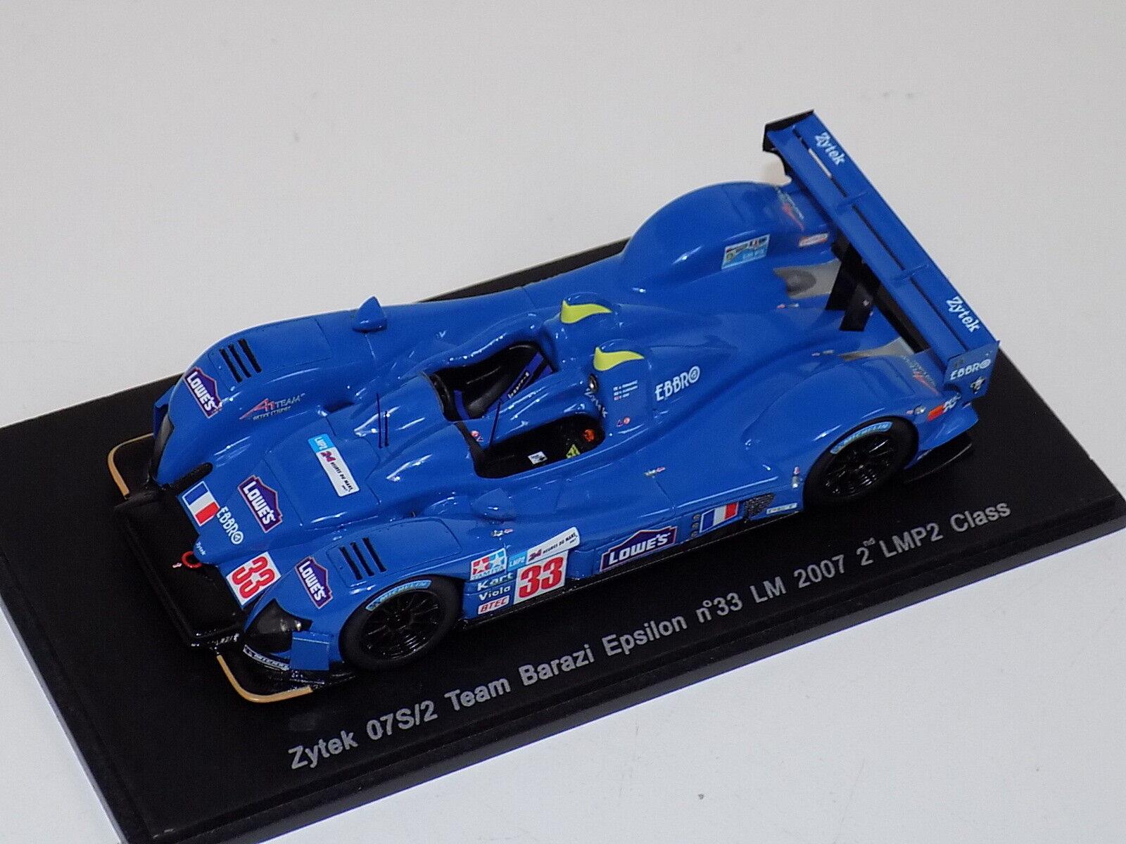 servicio honesto 1 43 43 43 Spark Zytek 07S 2 coche  33. 2nd LMP2 24 horas de LeMans 2007 S1423  Ahorre 60% de descuento y envío rápido a todo el mundo.