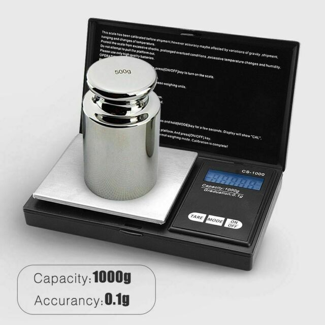 Pocket Digital Jewelry Gold Coin Gram Balance Weight Precise Scale 1000g x 0.1g