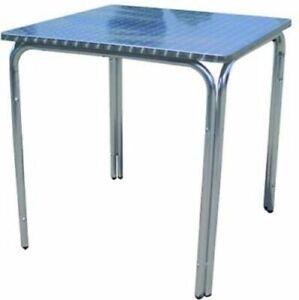 Tavolo-Tavolino-da-Giardino-Alluminio-Quadrato-60x60-Cm-H-70-Cm-Impilabile
