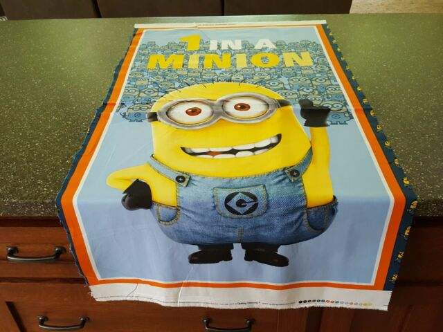 "1 In A Minion Panel 23"" x 43"" Despicable Me by Quilting Treasures BOLT END #3"
