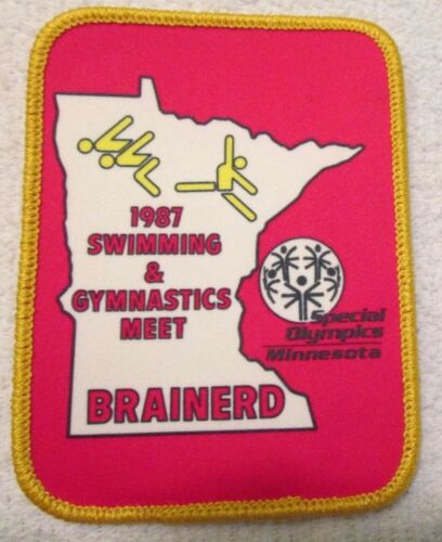 Vintage Special Olympics Patch Brainerd Minnesota 1987 Swimming Gymnastics Meet