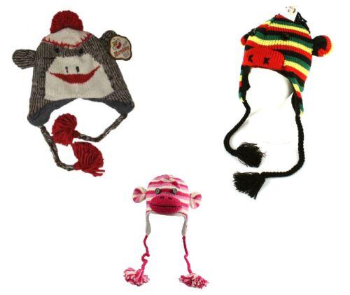 Original Monkey Sock Hats One Size Fits ALL Knit UNISEX UK Seller SKI FREE P /& P