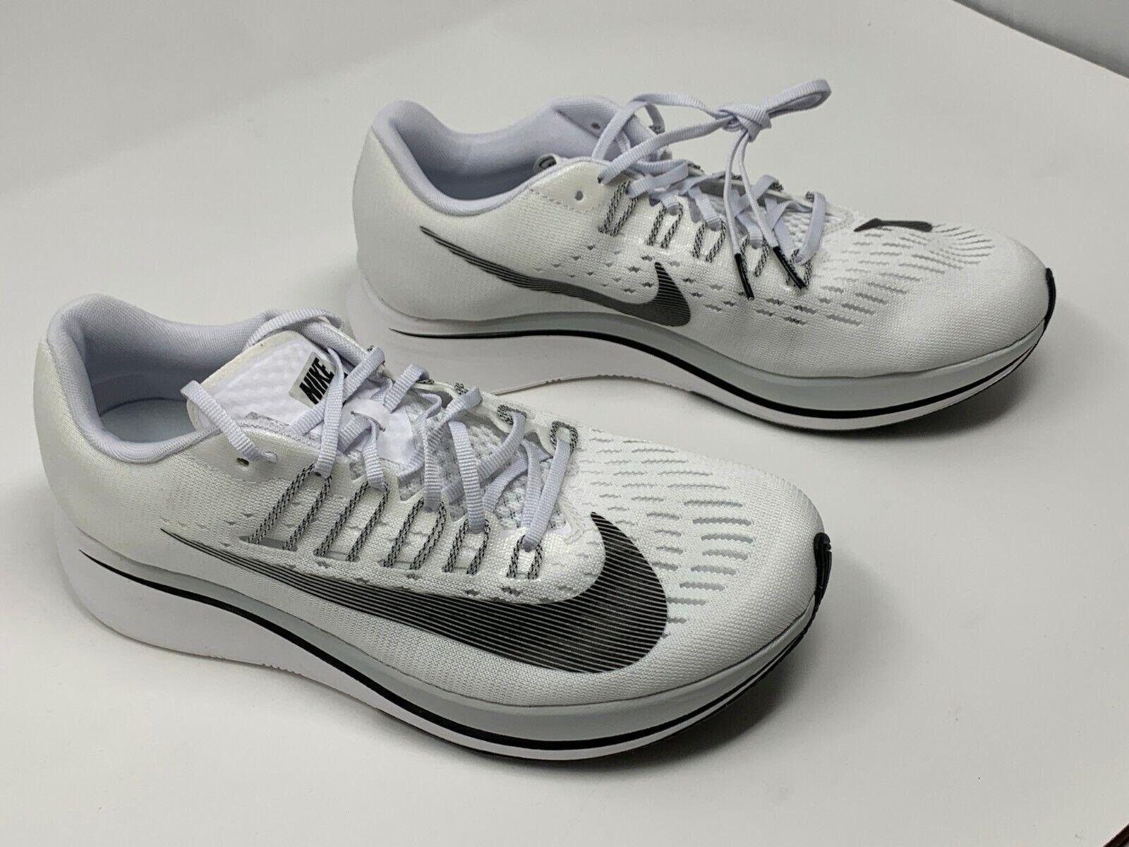 Nike Zoom Fly White Black Black Black Pure Platinum 897821-100 NO BOX TOP Women's SZ 10 1bb323