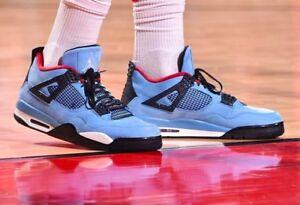 the latest 94fd4 cc835 Details about Nike Air Jordan Retro 4 IV x Travis Scott Cactus Jack Houston  Oilers Size 12