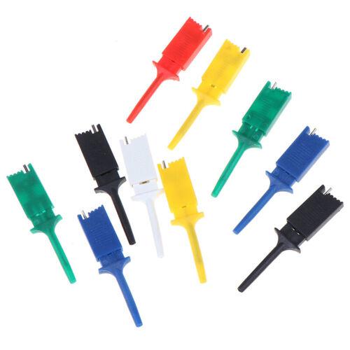 10pcs Test Hooks Clips für Messgerät Test Clip Flachha R/_JF