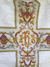 Chape Chasuble Liturgique Broderie Prêtre Aube Ancien 16