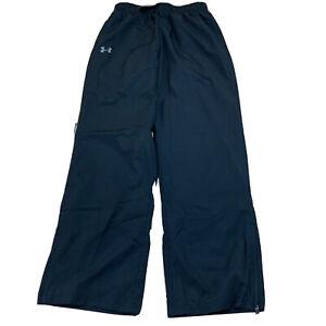 Under-Armour-Mens-Track-Pants-Windbreaker-Sweatpants-Black-Size-Medium-New-NWT