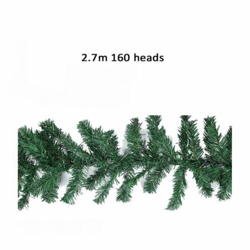 Christmas Fireplace Stair Decorated Garland 9ft Artificial Door Wreath Pine XMAS
