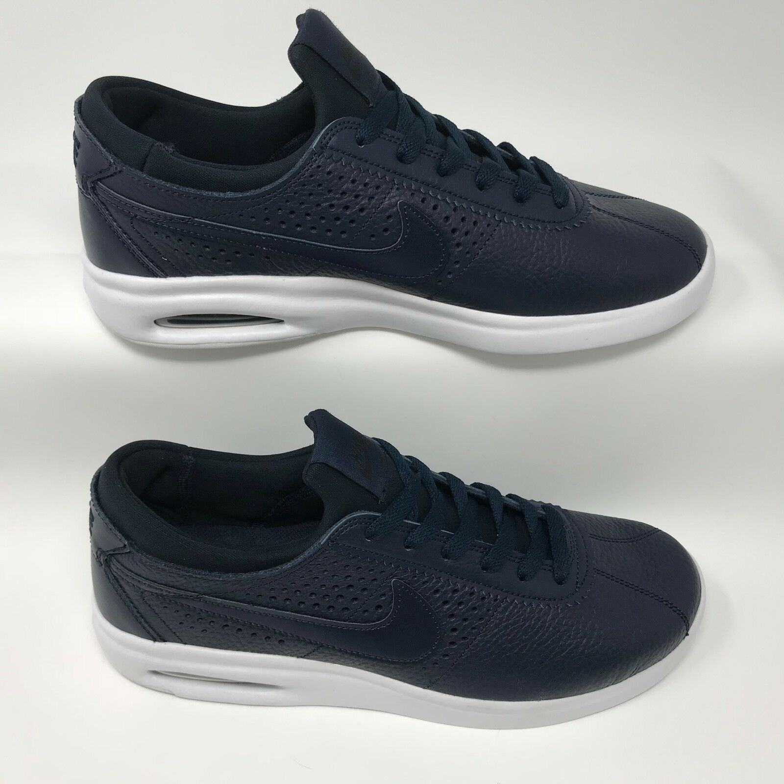 Nike 923111-440 Men's SB Bruin Max Vapor Skate Shoe Navy Leather Size 9