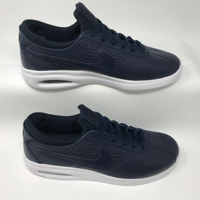 buy popular 7e8a5 8caad Nike 923111-440 Men s SB Bruin Max Vapor Skate Shoe Navy Leather Size 9