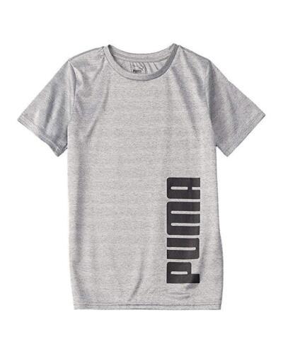 PUMA Big Boys Performance Tee Shirt Vertical Logo