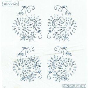 Vintage Iron On Embroidery Transfer Strip Briggs 56101 Lion Tiger Bear