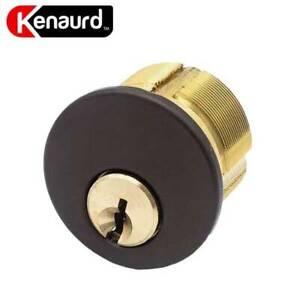 "Premium Mortise Cylinder US3 Polished Brass - SC1 // KW1 1-1//8/"""