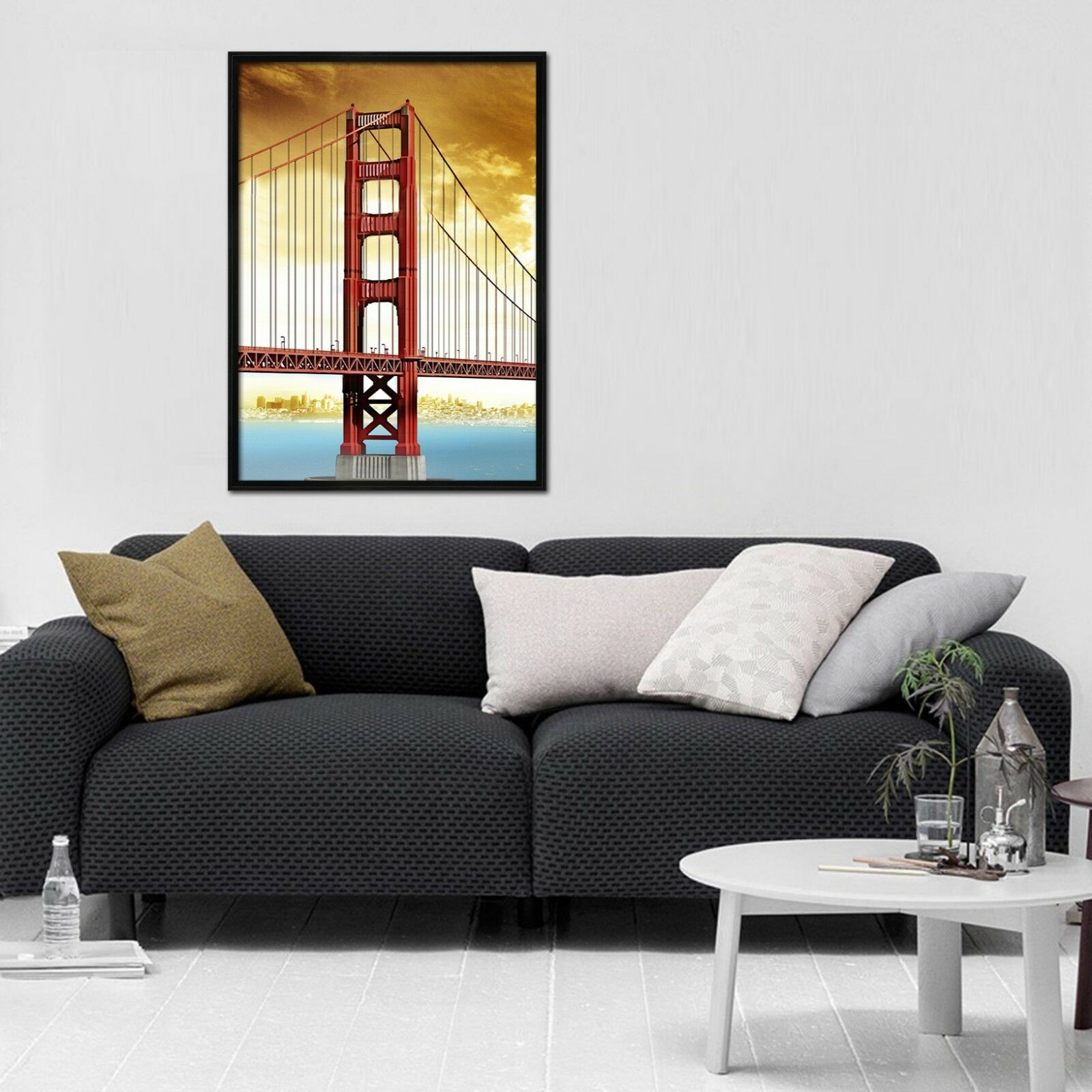 3D Sky Bridge 665 Fake Framed Poster Home Decor Print Painting Unique Art