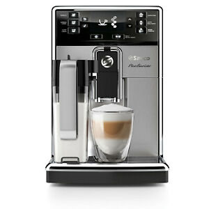Saeco PICOBARISTO Silver Automatic Espresso Machine with Milk Carafe HD8927/47