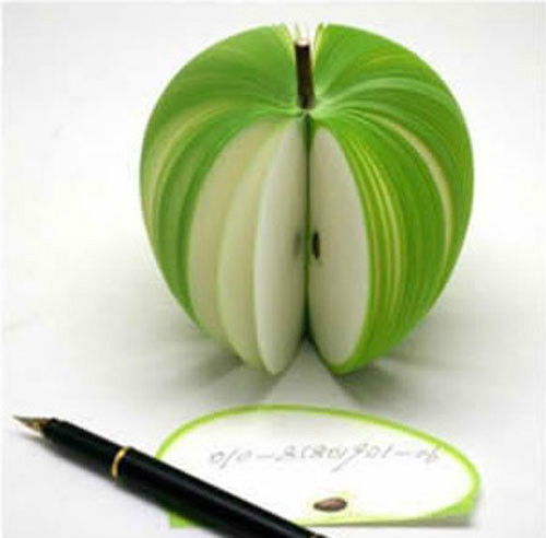 3D Notepad Post Note Memo Pad Paper Fruit shape Scratch Pad Apple Pear 9 Shapes
