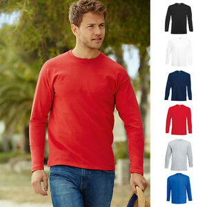 10-x-Herren-Mann-Langarm-10er-T-Shirt-Valueweight-Longsleeve-Fruit-of-the-loom