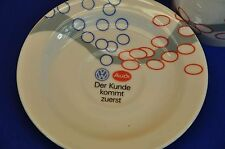 Porzellan Kaffeegedeck Audi VW Reklame Coffee cup + saucer Audi VW Advertisement