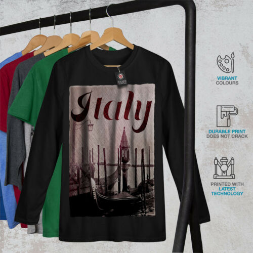 Italy Venice Gondola Women Long Sleeve T-shirt NEWWellcoda