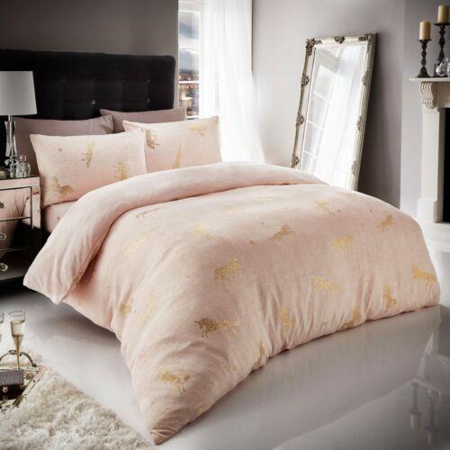 Teddy Bear Fleece Duvet Cover Set Thermal Warm Soft Sherpa Bedding /& Pillowcases