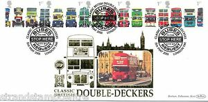 2001 Buses (Stamps) - Benham Gold (500) Official