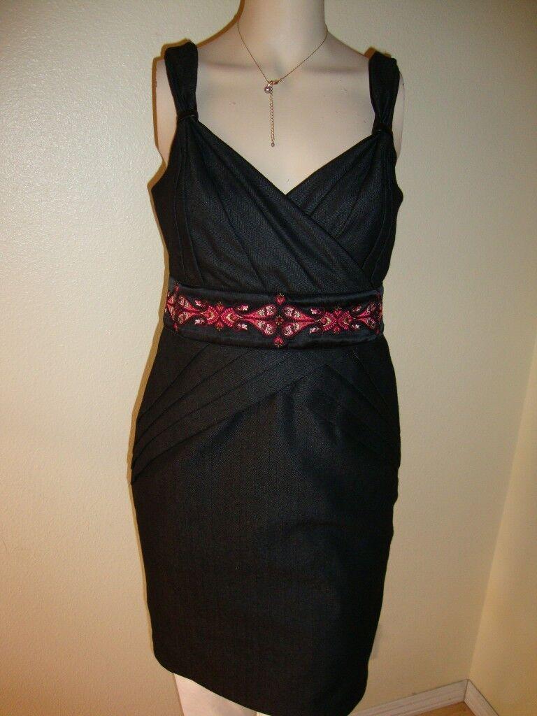 NWT BEBE PAISLEY HERRINGBONE PENCIL DRESS SIZE 8
