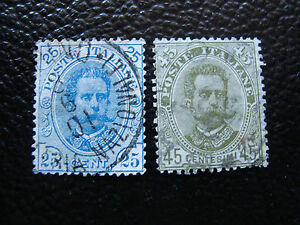 Italy-Stamp-Yvert-and-Tellier-N-61-62-Obl-A11-Stamp-Italy