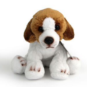 Stofftier-suesser-Beagle-sitzend-Hund-Kuscheltier-Plueschtier-H-ca-11cm