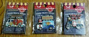 HARD ROCK CAFE JAPAN Food Truck Series Pin Limited 200 ASAKUSA&TOKYO&YOKOHAMA