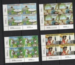 PNG389-Papua-New-Guinea-1996-Communications-Blocks-of-4-MUH