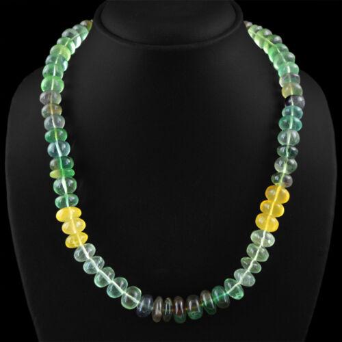collier Top Class 609.86 Cts Naturel Non Traité Multicolor Fluorine Perles rondes
