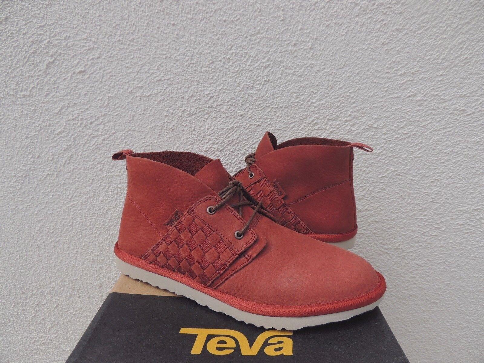 Teva coromar Suave Ladrillo Cuero Chukka botas al tobillo con cordones, US 7 38 euros  Nuevo con etiquetas