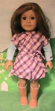 Amercan Girl Doll label Pretty and Plaid Dress / Outfit No Hat