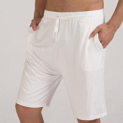 Nouveau Hommes Short Poches Longueur Genou Pantalon Court Pyjamas Fashion Leisure Pyjamas