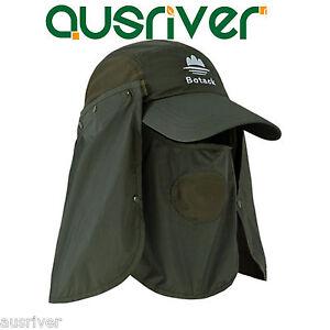 1bd4e8353baad 3 Colour Fishing Jungle Snap Brim Neck UV Protection Bucket Sun Flap ...