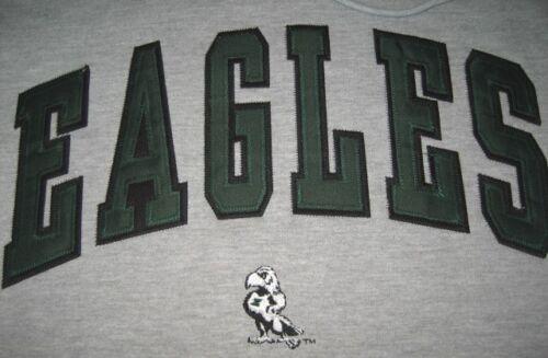EASTERN MICHIGAN EAGLES HOODED SWEATSHIRT NCAA SMALL S SM GREY GREEN