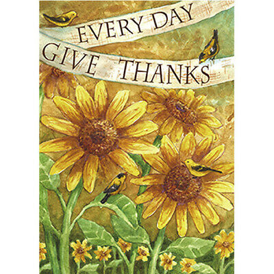 Thanks Every Day Birds On Sunflowers Garden Flag House Waterproof