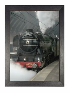 Flying Scotsman Portrait Poster Travel Black Train Classic Picture Express Photo