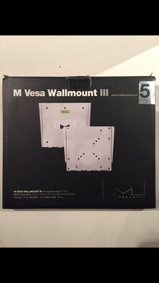 "TV-Ophæng til 15-40"", M VESA Wallmount III, Perfekt"