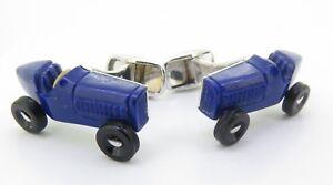 A-Fine-Pair-Of-Paul-Longmire-18k-Gold-Lapis-Lazuli-Vintage-Car-Cufflinks