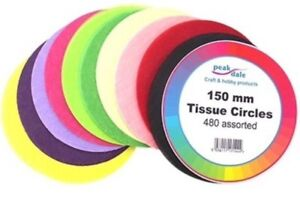 Tissue-Paper-Circles-150mm-6-Inch-480-Sheets-Assorted-Colours