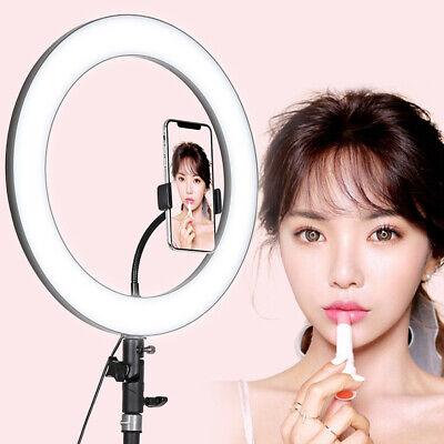 Studio LED Ring Light Dimmable Lamp YouTube Video Make-up Selfie Camera Phone UK
